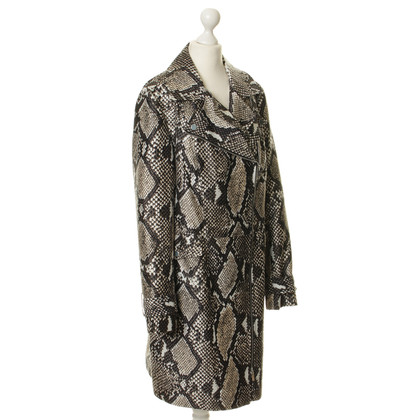 "Diane von Furstenberg ""Sally"" with snake-print coat"