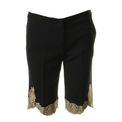 Red Valentino Bermuda shorts with lace trim