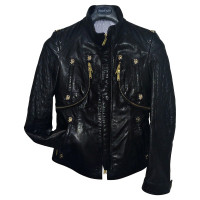 Philipp Plein Leather jacket with zippers