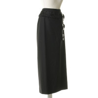 Dolce & Gabbana Wrap-around skirt with fur trim