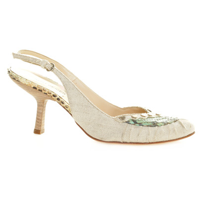 Kurt Geiger Sling pumps reptile leather