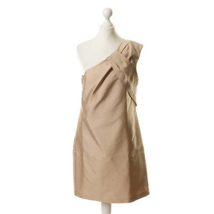Reiss Asymmetric dress in nude