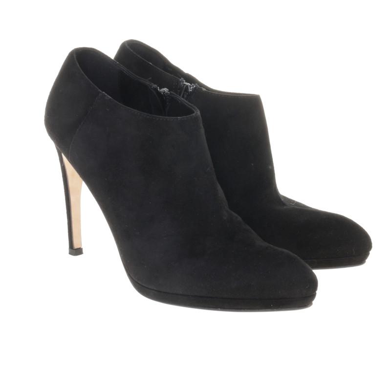 l k bennett ankle boots aus wildleder second hand l k. Black Bedroom Furniture Sets. Home Design Ideas