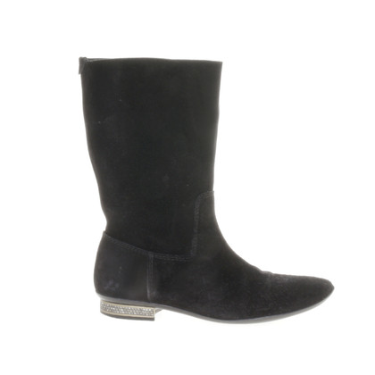 Pedro Garcia Suede boots with Rhinestone
