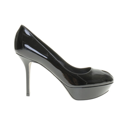 Sergio Rossi Platform peep-toes in patent leather