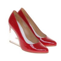 Maison Martin Margiela for H&M Red wedges with transparent heels