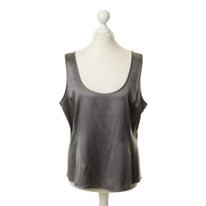 Armani Top in seta grigio