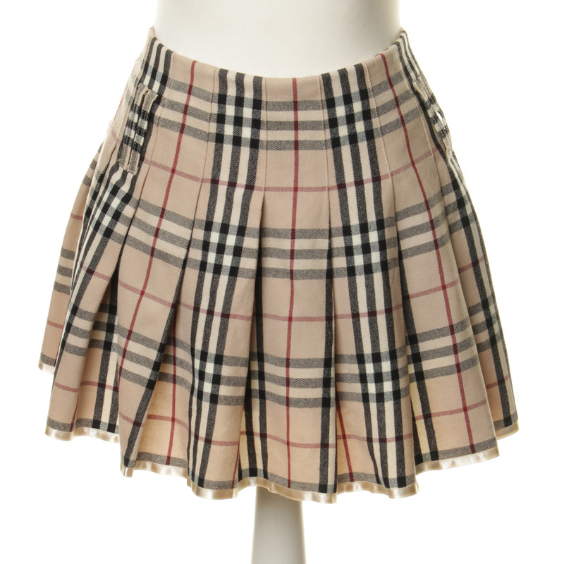burberry pleated skirt with plaid buy second