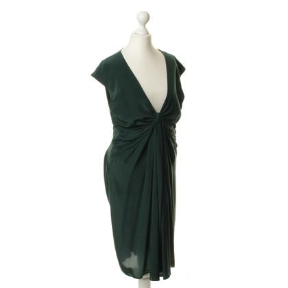 Donna Karan Zijden jurk met drap leeftijd