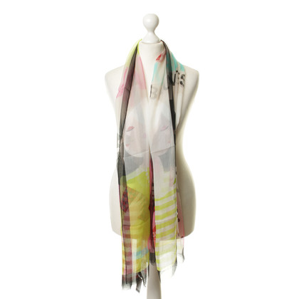 Moschino Cheap and Chic Colorful silk scarf
