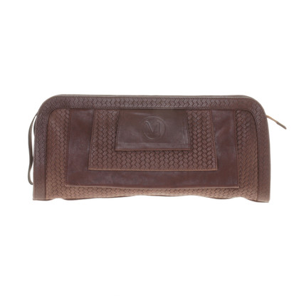 Marcel Ostertag Brown clutch with a braided look