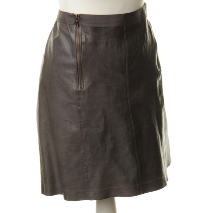 Lanvin Grey leather skirt