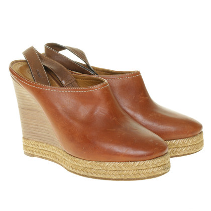 Chloé Wicker sole wedges