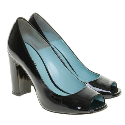 Pollini Peep-toes in patent leather