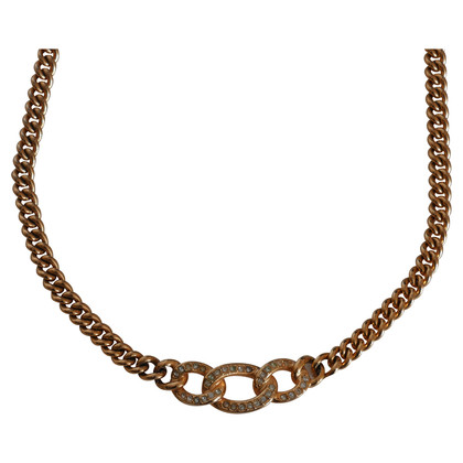 Christian Dior Gold plated necklace with Rhinestone