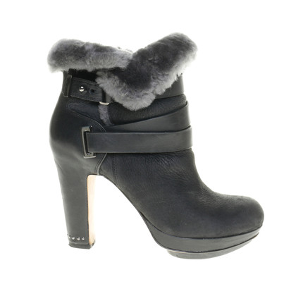 BCBG Max Azria Ankle boots with fur trim