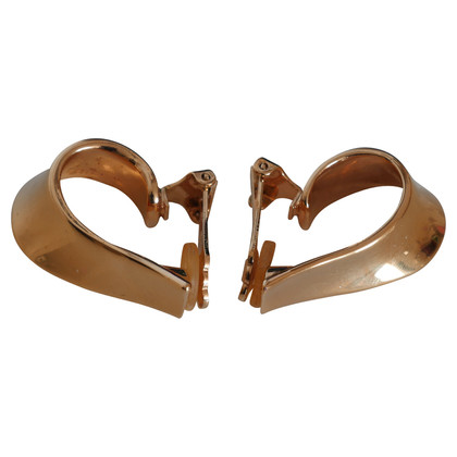 Christian Dior Curved clip earrings