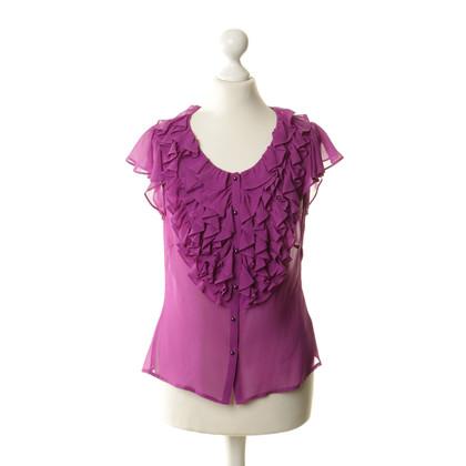 L.K. Bennett Silk ruffle blouse