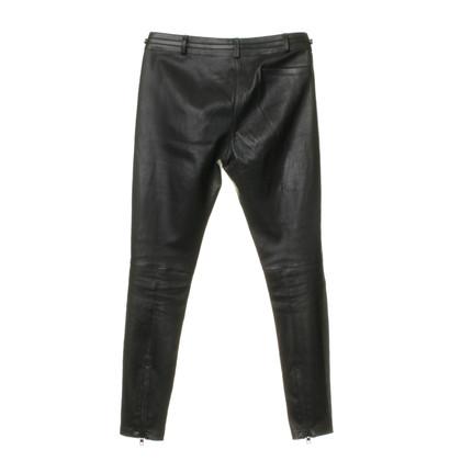 Givenchy Lederhose mit Zipper