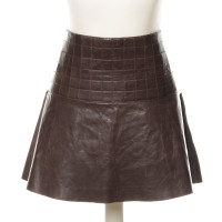 Chanel Leather skirt with graphical quilting