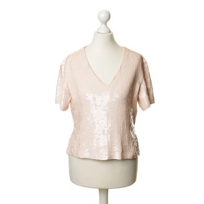 Rena Lange Pailettenshirt in Rosé