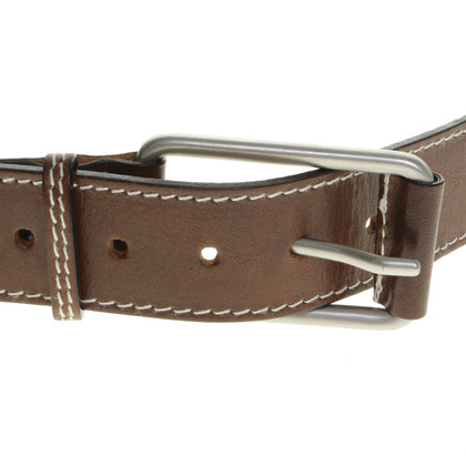 Gunex Fabric belt with leather