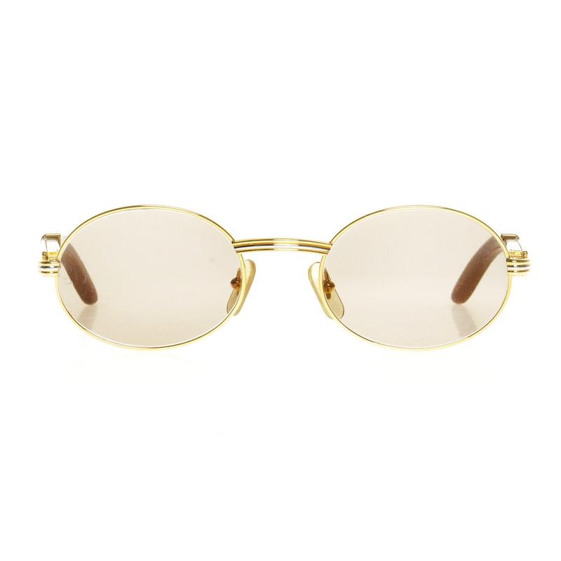 Cartier lunettes de soleil avec cadre en bois acheter - Lunette de soleil cartier homme ...