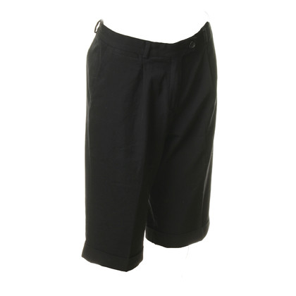 René Lezard Black Bermuda shorts