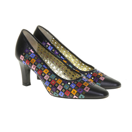René Caovilla Colorful pumps with hole look