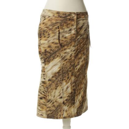 Roberto Cavalli skirt with animal print