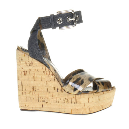 Dolce & Gabbana Wedges with Leo pattern