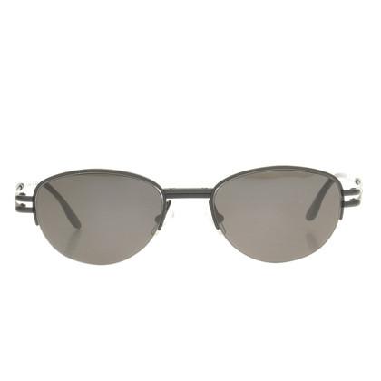Jil Sander Schwarze Sonnenbrille