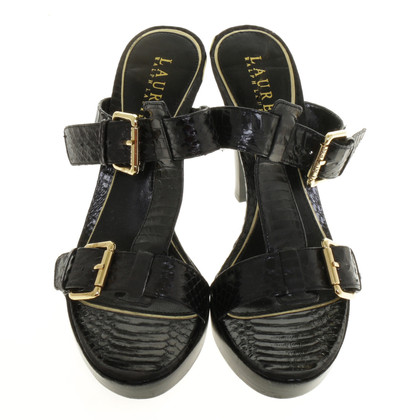 Ralph Lauren Sandals made of reptile leather