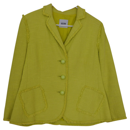 Moschino Cheap and Chic Limettengelber Blazer
