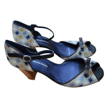 Bruuns Bazaar pumps cinturino alla caviglia con il reticolo
