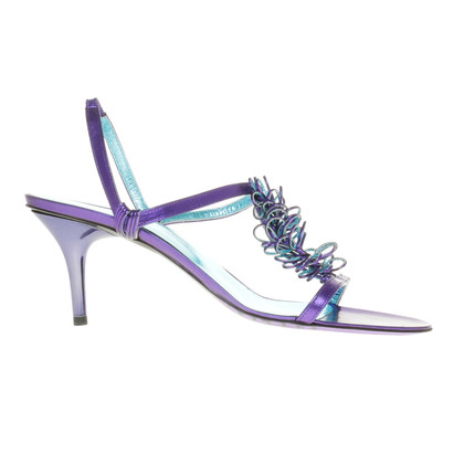 Armani Riemchen-Sandalette mit Violett