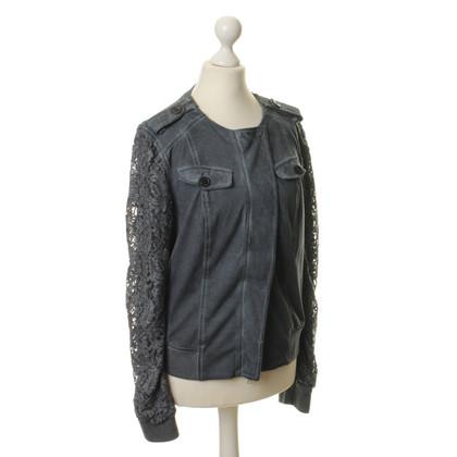 Marc Cain Blouson jacket with lace