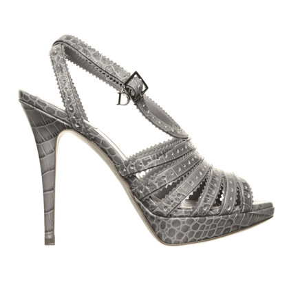 Christian Dior Strappy heels in reptile finish