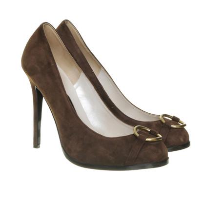 Rena Lange pumps with brown suede