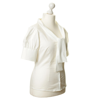 Piu & Piu Knop blouse in wit