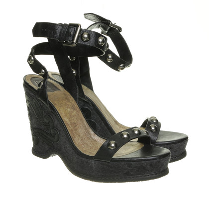 Anna Sui Wedges with rivets