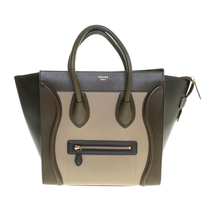 "Céline ""Mini Luggage Bag"" in khaki"