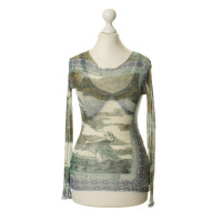 Jean Paul Gaultier top with antique print