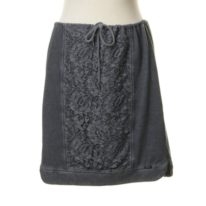 Marc Cain Blue skirt with lace trim