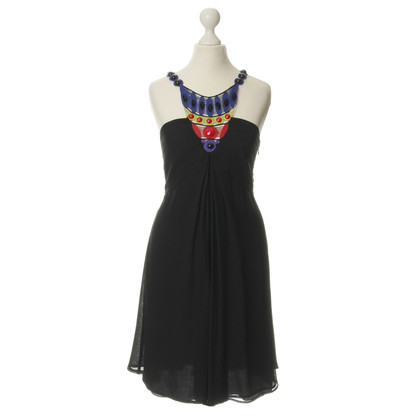 Catherine Malandrino Silk dress with colorful accent