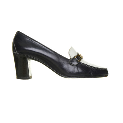 Céline pumps in blauw en wit