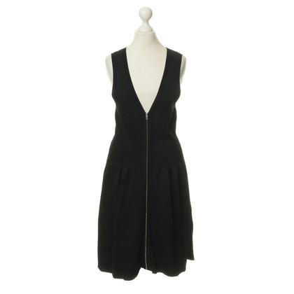 Sandro Black dress with zip detail