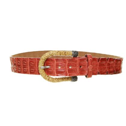 Ralph Gladen riem gemaakt van krokodillenleer
