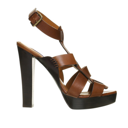 Ralph Lauren High heel sandal in Brown