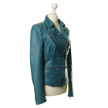 Muubaa Leather jacket in teal